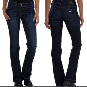 Armani J02 Cassia Flare Jeans Size 28